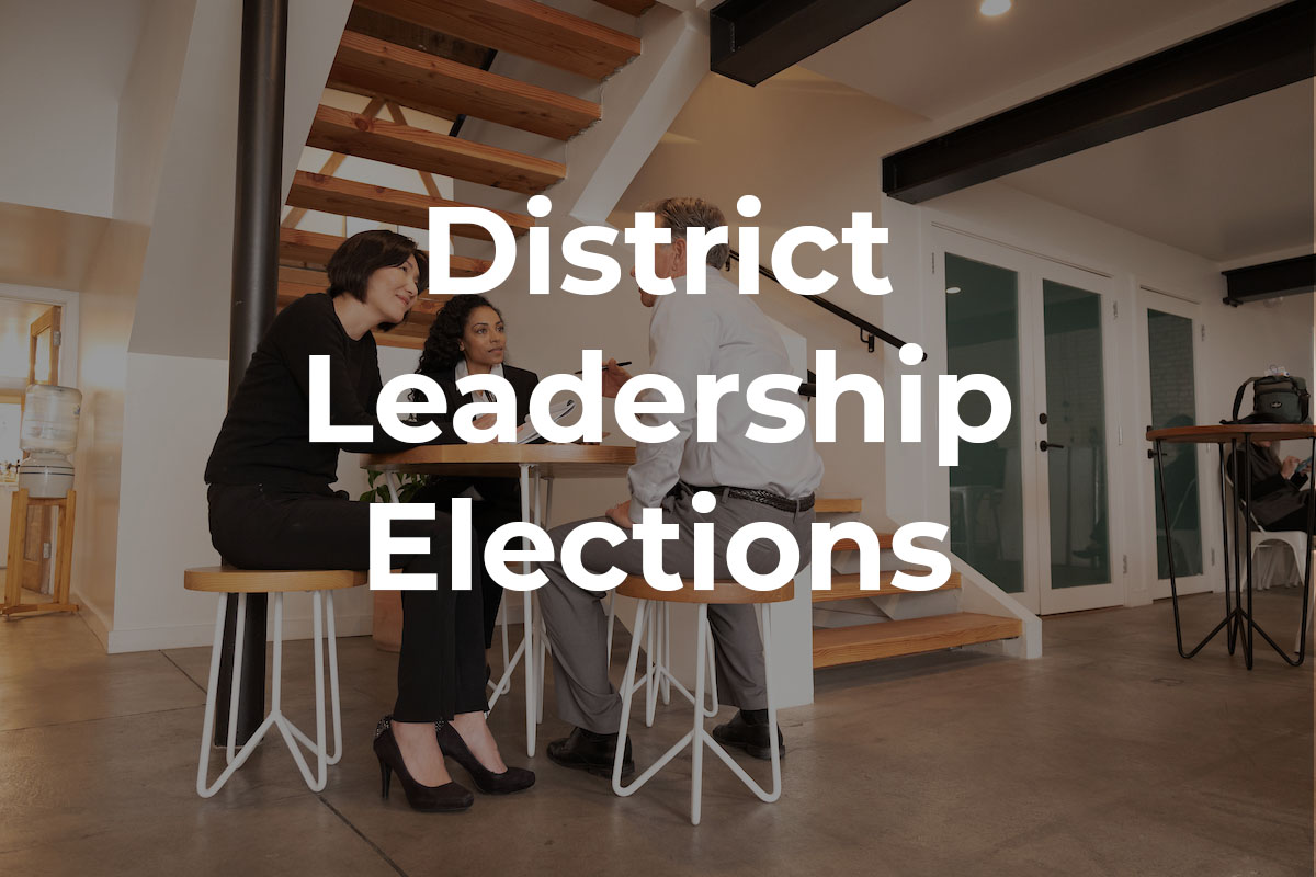 Call for Nominations for District Leadership Elections